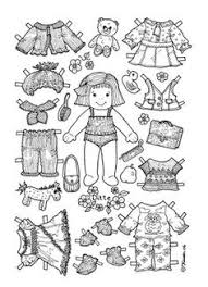 Small Picture Paper Doll Coloring pages Bing Images Arielle Gabriel Paper