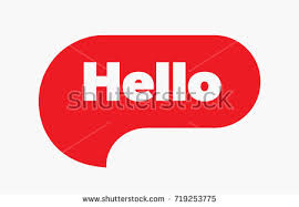 Quote Sign New Hello Quote Message Red Bubble Vector Stock Vector Royalty Free