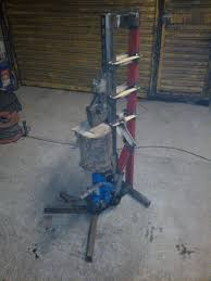 picture of foot operated log splitter