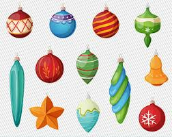 christmas tree ornament clipart. Popular Items For Christmas Clipart On Etsy To Tree Ornament