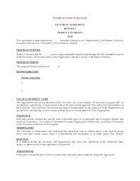 Letter Of Understanding Template Word Business Agreement Form Format Template Sample Memorandum Of