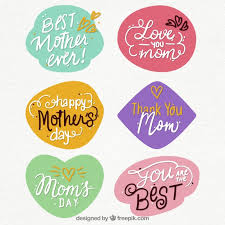 Dia Quote Fascinating Mother's Day Quote Stickers Vector Free Download