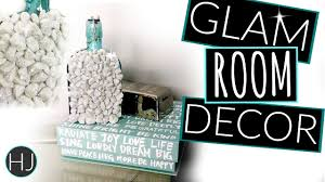 DIY Modern Glam Room Decor  DIY Decor On A Budget YouTube - Modern glam bedroom