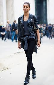 what to wear with black leather shirt