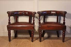sold pair of leather library captian desk chairs to zoom