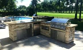 bull bbq grill custom outdoor kitchen island with rock upgrade sink and bull grill