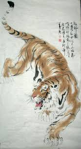 chinese tiger drawing.  Tiger Chinese Painting Tiger  Painting CNAG234988 Artisoocom  Painting Throughout Drawing E