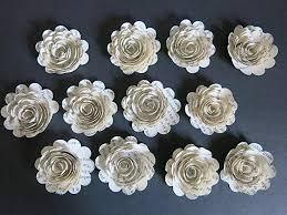Recycled Flower Paper Amazon Com Scallop Book Page Roses Set Of 12 Handmade