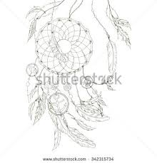 Dream Catcher Without Feathers Dream Catcher Feathers Beads Items Sea Stock Vector 100 66