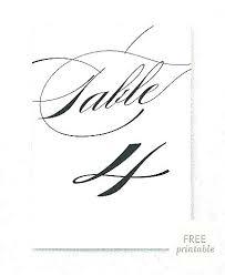 Printable Table Numbers Lilasdogcare Com