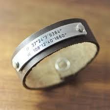 personalized bracelet silver custom coordinates b