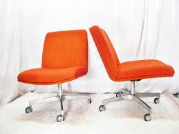 orange office furniture. Chairs By ERMillerDesign On Old Office Chair For Modern Vintage Pair Of Chrome Craft Orange Armless Furniture A