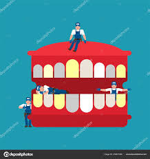 Repairing And Maintenance Repair Maintenance Teeth Miniature Workers Mouth Dentist