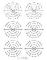 Polar Graph Paper 6 Per Sheet Free Printable Math Worksheets