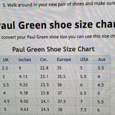 Paul Green Shoe Size Chart Paul Green Munchen Ankle Boots