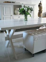 kitchen picnic table white lacquered picnic table