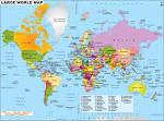 Политическая карта мира раскраска