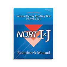 Nelson Denny Score Chart Ndrt Nelson Denny Reading Test Forms I J Wps