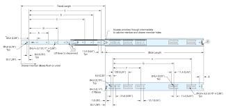 """esr-3813-10 """"75 lb"""" <b>side</b> mount <b>stainless steel</b> drawer slide"""