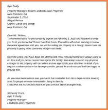 end of lease letter to tenant from landlord termination letter from landlord to tenant