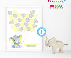 Guest Book Template Enchanting Guest Book Template Yellow Elephant Baby Shower Guest Book Guest