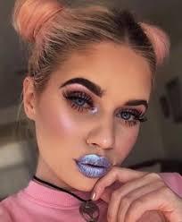 make up metallic lipstick metallic lipstick lips eye makeup eyeliner eye shadow eyebrows eyelashes eyebrow makeup tips