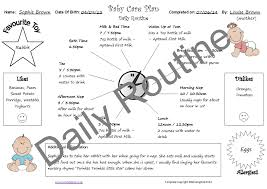 baby daily report sheet baby care pack mindingkids