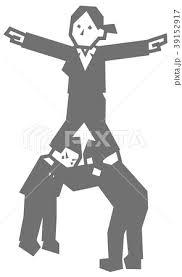 組体操タワーをするビジネスマンのイラスト素材 39152917 Pixta