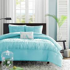 teal aqua blue teen girl bedding elegant ruched comforter or duvet cover set twin xl full queen king