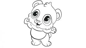 Cute Coloring Pages Animals Printable Sea Of With Big Eyes Baby