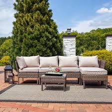 Sunnydaze Belgrano 6 Piece Sofa Sectional Patio Furniture Set