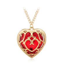 japanese anime the legend of zelda figure necklace red heart