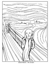 the scream coloring sheet. Unique Scream Coloring Pages  The Scream American Gothic Beasts Of The Sea And Poppy To Scream Sheet