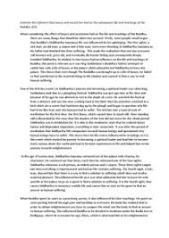 the life of the buddha sample essay document in a level and ib  page 1