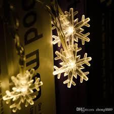 LED String Light Battery Box 20LED 30LED 50LED 80LED Snowflake 2019 New Christmas Day Decoration Flash Lantern Outdoor