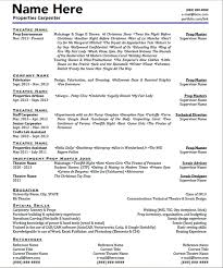 Tech Theatre Resume Technical Theatre Resume