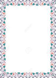 Quite Lite Border Design In Vector Lines Colored