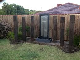 Garden Design Ideas With Railway Sleepers Railway Sleepers Water Feature Garden Design Water