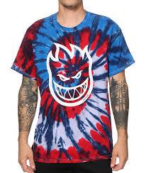 spitfire tie dye. spitfire bighead tie dye t-shirt zumiez