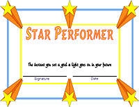 Star Of The Month Certificate Template Award Certificate Templates Star Performer Certificate Templates