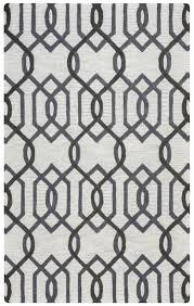rizzy new caterine wool round area rug 10 feet grey off white trellis geometric
