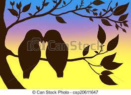 lovebird clipart silhouette. Plain Silhouette Love Birds  Csp20611647 Intended Lovebird Clipart Silhouette I