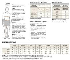 Carhartt Mens Outerwear Size Chart
