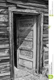 open door clipart black and white. Open Exterior Door On Old House Clipart Black And White I