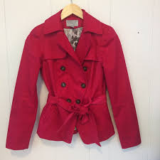 h m lined belted fucsia hot pink peacoat style belted lined blazer jacket sz2