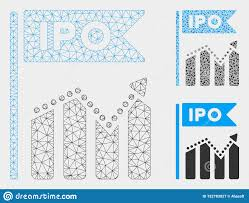 Ipo Chart Vector Mesh Carcass Model And Triangle Mosaic Icon