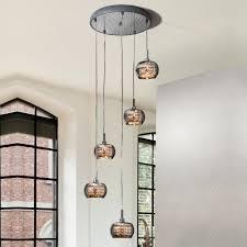italian designer smoked glass pendant light