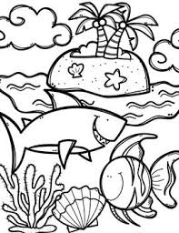 Sea animals featured in these sets incude coral reef fishes, jellyfish, starfish, seahorse, crab, octopus, dolphins, sharks, whales, orca, and sea turtles. Ocean Coloring Pictures Cinebrique