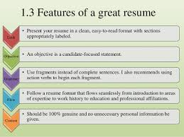 Non-traditional Resume; 7. 1.3 Features ...