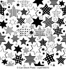 Different Types Of Patterns Gorgeous Seamless Pattern With Different Types Of Stars